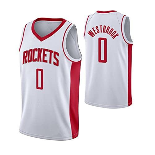 Camiseta de Baloncesto Para Hombre de La NBA, Houston Rockets 0 # Westbrook Camiseta de Baloncesto Transpirable Swingman, Chaleco Sin Mangas de Malla Transpirable Conmemorativa Para Aficionados,S