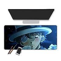マウスパッド 名探偵コナンゲーミングマウスパッドします滑らかな表面特別なテクスチャラバーベース拡張ビッグキーボードマウスパッドイージーケアオフィスマウスマット 30x70cm