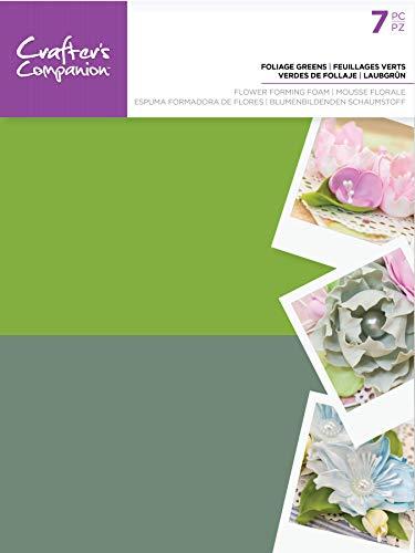 Crafter's Companion CC-FOAMFL-FLGR Blume Bildet Schaum Laub 7 Pc-Foliage Greens, Einheitsgröße