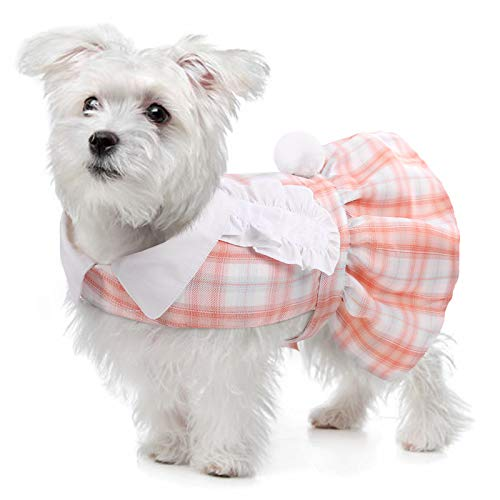 PUMYPOREITY Vestido para Perro, Falda tutú para Perro, Linda Falda de Princesa, Vestido Princesa Elegante Falda Traje para Perros Pequeños y Medianos para Ropa de Verano(XS)