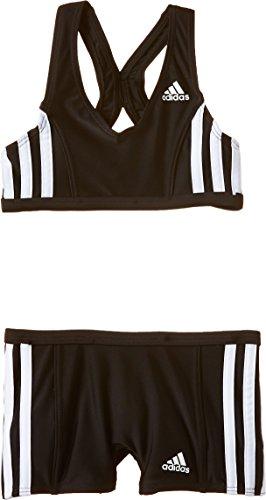 adidas Mädchen Bikini Infinitex 3-Streifen, black/white, 128, S22913