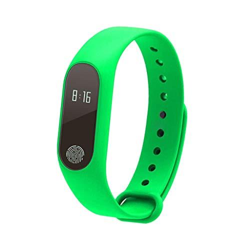 Almencla M2Smart Band UhrenarmbandArmband Fitness Tracker BloodPressure HeartRate - Grün