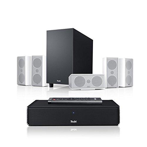 Teufel Consono 35 Complete Weiß Heimkino Lautsprecher 5.1 Soundanlage Kino Raumklang Surround Subwoofer Movie High-End HiFi Speaker