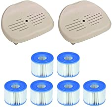 Intex Pure Spa Hot Tub Seat Accessory (Pair) + PureSpa Type S1 Filters (6 Count)