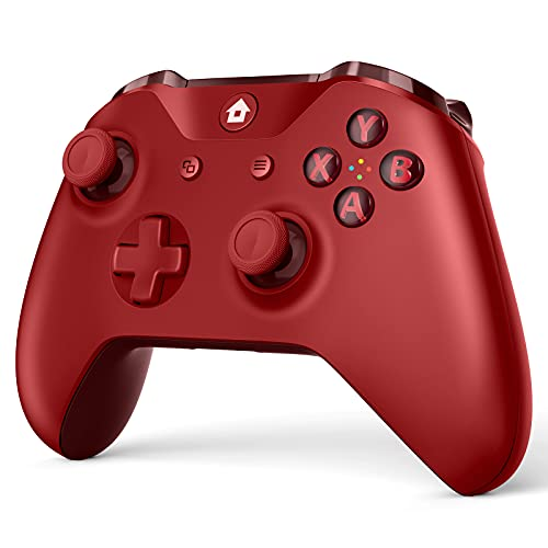 Wireless Game Controller Compatible with Xbox One and Xbox One S/X, Compatible with Windows 7/8/10 (RED)