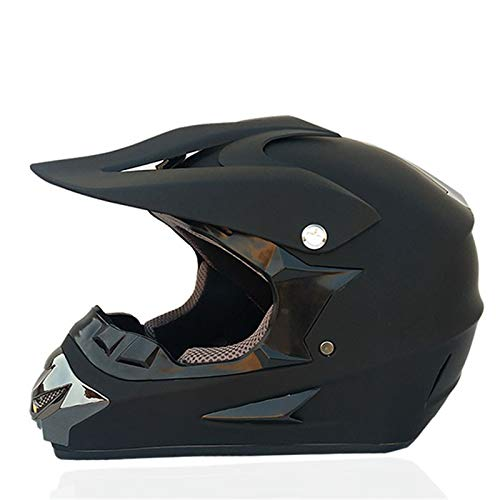 LVYE1 MRMF Casco De Motocross para Motocross, Casco Moto Cross Road con Casco Guantes Gafas para Adulto Niños Quad Bicicleta ATV Go Karting Casco Adecuado,B,L
