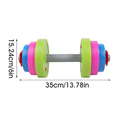 Obobb Kids Weight Bench,Adjustable Dumbbell Toy Fill with Sand/Water Workout Set for Kids Dumbbell Toys for Kids