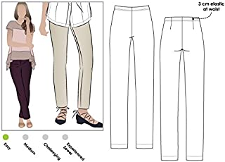 Style Arc Sewing Pattern - Margaret Stretch Woven Pant (Sizes 18-30) - Click for Other Sizes Available