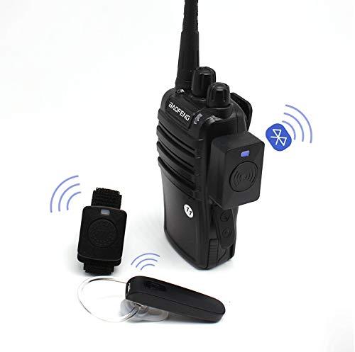 Auriculares inalámbricos Walkie Talkie Manos Libres Bluetooth Auriculares Auriculares de Mano Radio bidireccional Auriculares inalámbricos para Baofeng Moto Conector K