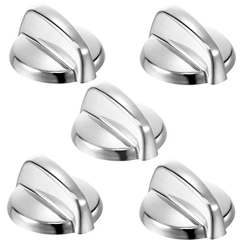 Burner Control Knob WB03T10325 Metal Stove Knobs for General Electric GE ACooktop/Stove/Oven Knobs-Replace AP5690210 PS3510510 (5Pack)