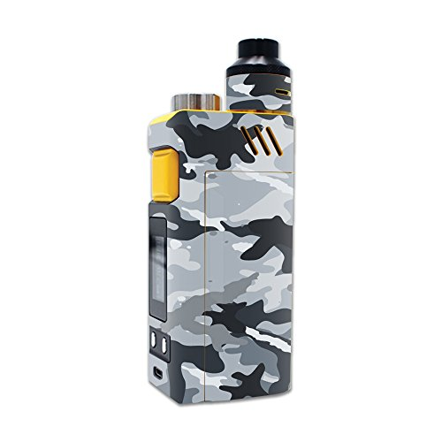 MightySkins Skin Compatible with iJoy RDTA Box 200W – Gray Camouflage | Protective, Durable, and Unique Vinyl Decal wrap Cover | Easy to Apply, Remove, and Change Styles | Made in The USA
