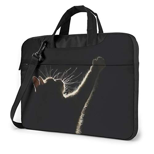 The Cat Want to Reach The Moon Laptop Bag Shockproof Briefcase Tablet Carry Handbag for Business Trip Office 14 inch