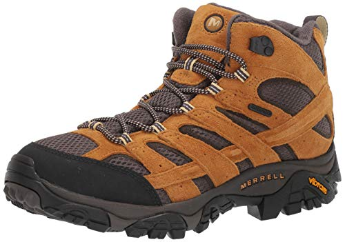 Merrell Men's Moab 2 MID WP Hiking Boot, Gold, 11.5