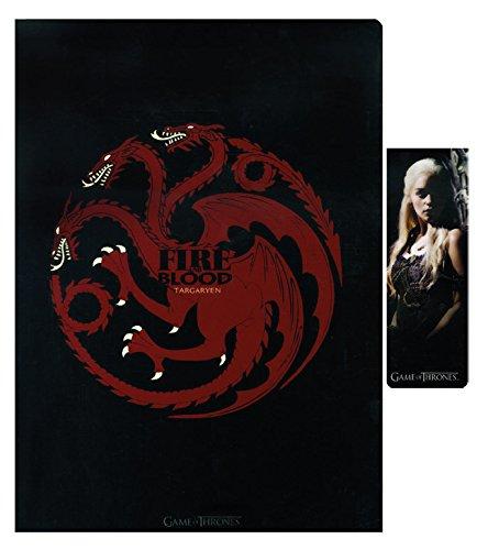 SD toys sdthbo02078–Game of Thrones taccuino e segnalibro Magnetico Set Targaryen