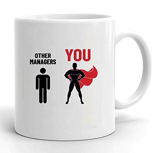Regalo de superhéroe, divertido gerente de la taza, regalo de cumpleaños del gerente, mejor manager taza de café