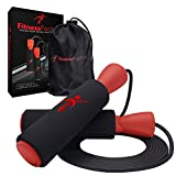Fitness Factor Adjustable Jump Rope with Carrying Pouch