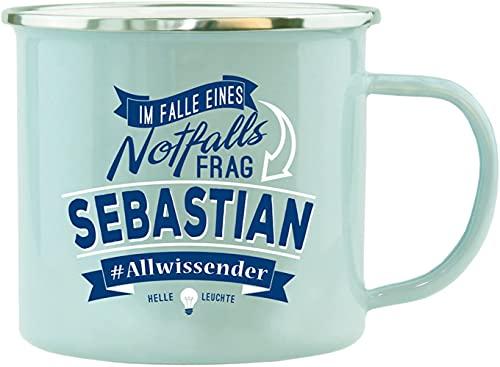 History & Heraldry - Tazza smaltata, motivo: Sebastian, multicolore