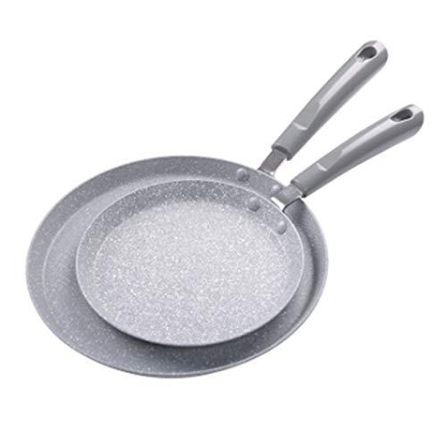 Sartenes antiadherentes Pan non-stick Pan Maifan Piedra cubierta de panqueques Crepe Pan Pan Frey Sart Pan Estufa General Propósito General Inducción Cocina (Color : Gray, Size : 18cm)