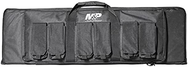 Smith & Wesson M&P Pro Tac Padded Rifle Case with Ballistic Fabric Construction and External Pockets for Shooting, Range, Storage and Transport