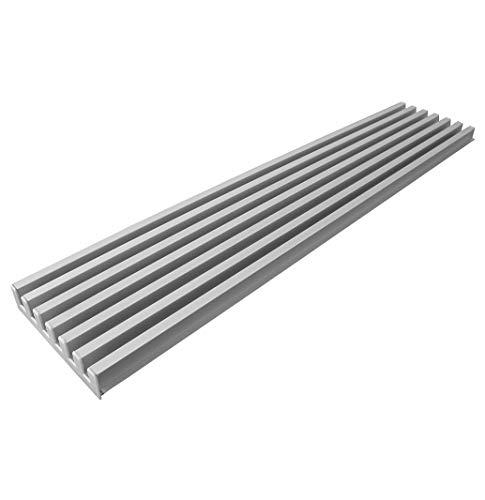Rejilla de aireación de 125 mm altura (900, Acero Inox)
