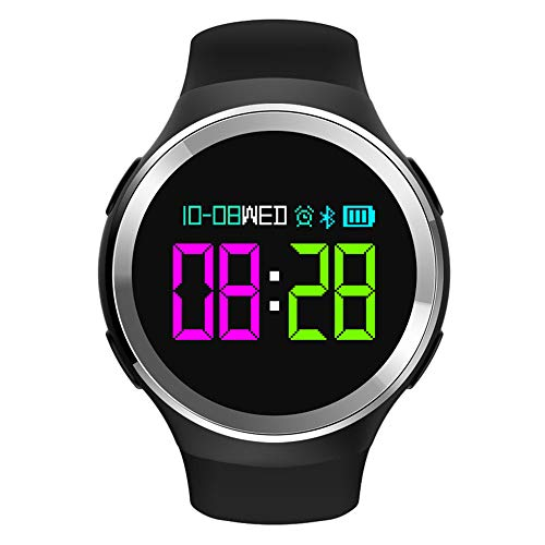 Ningz0l Fitness Tracker Smart Bracelet Watch, slaapmonitor, multifunctioneel, waterdicht, kiezelkleuren Zwart