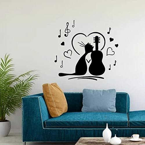 Cat Music Cat Music Vinilo Adhesivo de pared