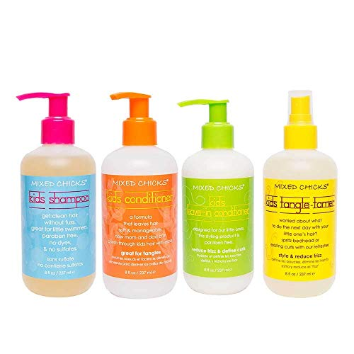 Mixed Chicks Kid's Quad Pack - Shampoo, Conditioner, Leave-in Conditioner, Tangle-Tamer, 8 fl.oz. each