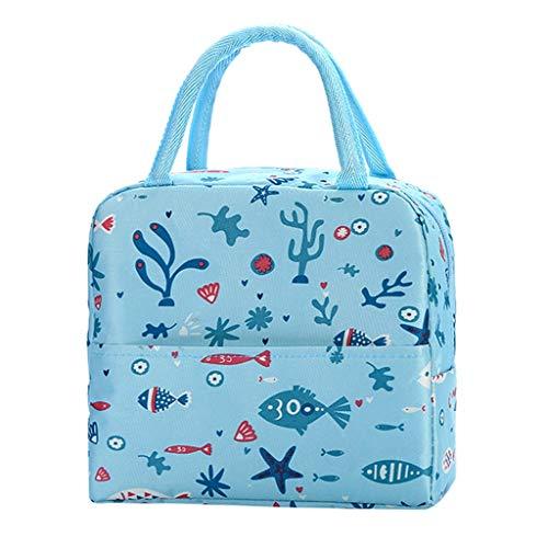 jerferr Einfacher Stil Wasserdichte Oxford Mittagstasche mit großer Kapazität Picknicktasche im Freien