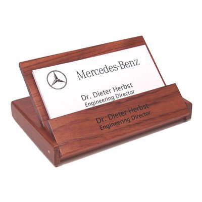 Personalized Rosewood Folding Business Card Holder- Free Engraving
