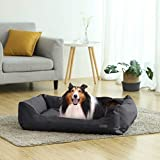 Songmics XXL Luxus Hundebett Hundekissen Oxford Gewebe mit unten einen Anti-Rutschboden – 120 x 85 x 30 cm PGW30H - 3