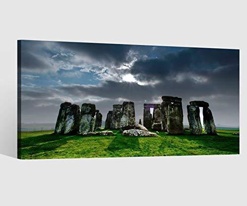 Leinwandbild Leinwand Stonehenge Steinkreis Skyline Kat15 England Kat21 UK Bild Bilder Wandbild Holz Leinwandbilder Kunstdruck vom Hersteller 9AB681, Leinwand Größe 1:80x40cm