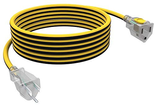 STANLEY 36125 25 FT. Contractor Grade Heavy Duty Extension Cord, Yellow/Black