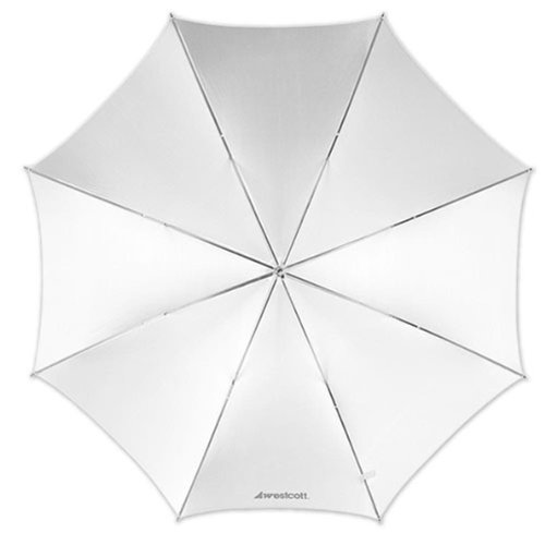 Price comparison product image Westcott 2001 43-Inch Optical White Satin Collapsible Umbrella