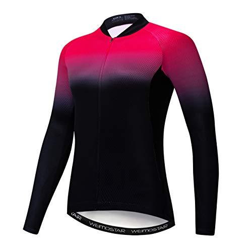 weimostar Anti-UV Fietsshirts Vrouwen Lange Mouw Mountainbike Shirts Herfst Ademend Fietskleding Mtb Jerseys