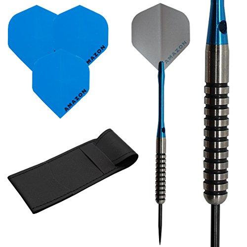 16G 21G 23G 25G 27G Tungsten dardos Set, Plata Tono De Amazon para dardos, 2tallos y caso