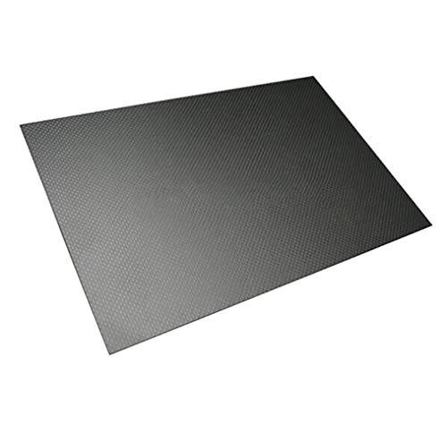 SOOKi Carbon-Faser-Sheets 300x400mm 100% 3K Plain Weave Carbon-Faser-Platte-Panel,300mm*400mm,6mm