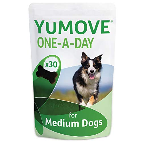 Lintbells | YuMOVE ONE-A-DAY Medium Chewies For Dogs | Essential Hip and Joint Supplement for Stiff Dogs | 30 Chews - 1 Month supply