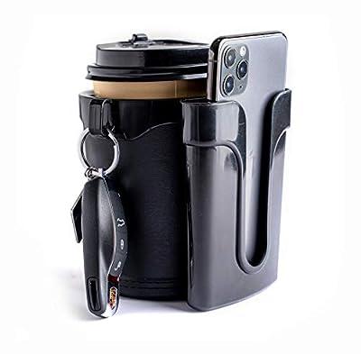 Yoyoapple Bike Cup Holder Handlebar with Cell Phone Keys Holder Bicycle Drink Beer Holder Black