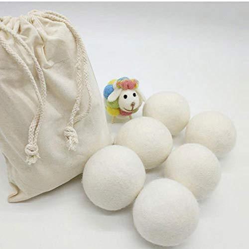 Boule de lavage lavanderia de qualité supérieure - Réutilisable - Pour sèche-linge - En laine bio - Avec adoucissant - Comme sur la photo.