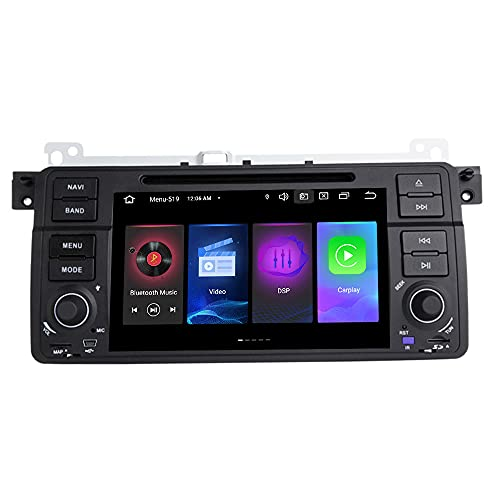 YQGOO Android Navegación GPS Radio De Coche Reproductor De DVD Multimedia Estéreo Compatible con B-MW E46 M3 Rover 75 Coupe 318/320/325/330/335 Bluetooth DSP carplay Mirror Link