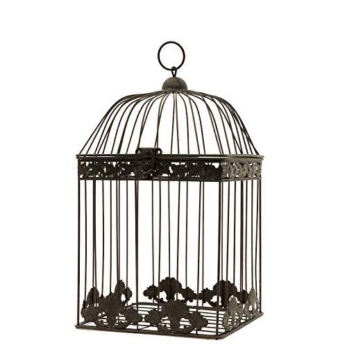 chemin_de_campagne Cage à Oiseaux Déco Carré Marron 43 cm x 23 cm x 23 cm