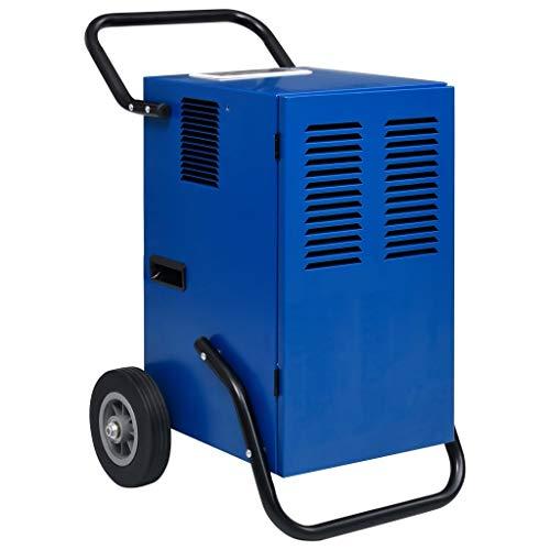 vidaXL Luftentfeuchter mit Heißgasabtauung Rädern Rotationsverdichter Bautrockner Luft Trockner Entfeuchter Raumentfeuchter 50L/24h 650W