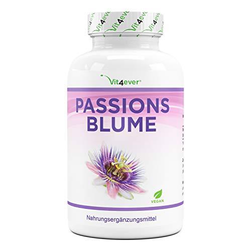 Extracto de Pasiflora - 240 Cápsulas - Premium: 1100 mg de extracto 5:1 (equivalente a 5500 mg de pasiflora) por porción diaria - Dosis extra alta - Sin aditivos indeseables - Vegano