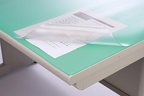 ライオン事務器 デスクマット 1390×590mm No.146-PRM グリーンマット付