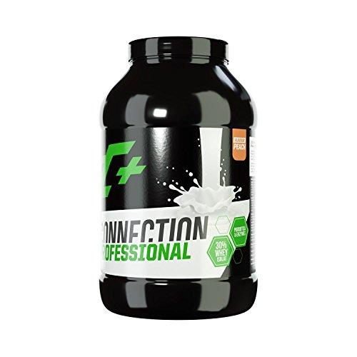 ZEC+ Whey Connection Professional – 1000 g, Proteinpulver aus Whey Konzentrat & Whey Protein, Protein Shake mit Eiweißpulver & Aminosäuren (BCAAs), Geschmack Pfirsisch