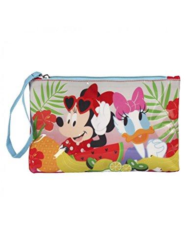 Minnie Mouse en Daisy toilettas met ritssluiting en handvat. Kinderdesign met tropische stijl – thuis en meer.