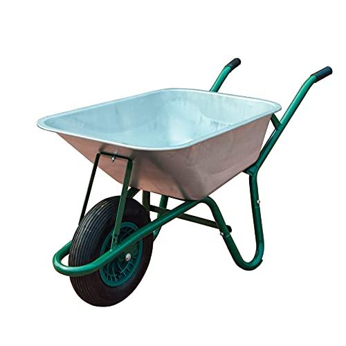 Neo® Wheelbarrow Home Garden Cart Galvanised with Pneumatic Tyre (85L)