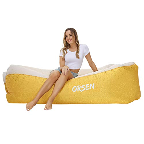 Orsen Camping Accessories Inflatable Lounger Couch Hammock Waterproof, Air Sofa for Backyard Lakeside Beach with Compression Sacks, Outdoor Gifts for Men Boyfriend