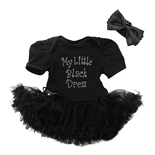 Amedahk My Little Black Dress Bodysuit Tutu Small Black