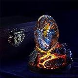 Lava Dragon Egg,Crystal Transparent Lava Dragon Egg Resin Handmade Sculpture Ornaments, Desktop Ornaments Exquisite Unique Gift